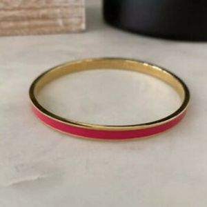 """Kate Spade """"From Me To You"""" Pink Bangle Bracelet"""